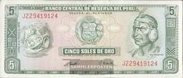 Peru Pick-number: 99b (1972) Uncirculated 1972 5 Soles - Peru