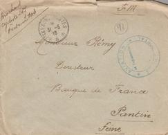 LSC 1916 - Cachet Trésor Et Postes 8 Et Cachet AVIATION Service Postal - Guerra De 1914-18