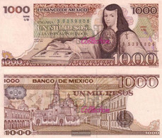 Mexico Pick-number: 80a Uncirculated 1983 1.000 Pesos - Mexico