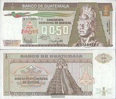 Guatemala Pick-number: 65 (03.01.1986) Uncirculated 1986 1/2 Quetzal - Guatemala