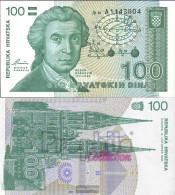 Croatia Pick-number: 20a Uncirculated 1991 100 Dinar - Croatia
