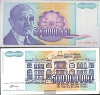 Yugoslavia Pick-number: 134 Uncirculated 1993 500 Million.Dinara - Yugoslavia