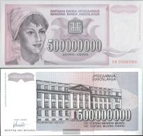 Yugoslavia Pick-number: 125 Uncirculated 1993 500 Million. Dinara - Yugoslavia