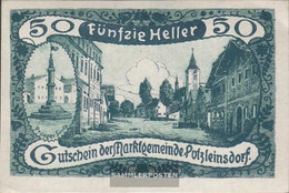 Putzleinsdorf Notgeld The City Putzleinsdorf Uncirculated 1920 50 Bright - Austria