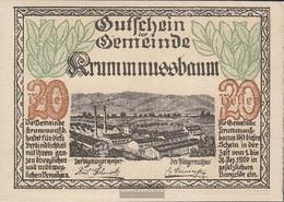 Krummnussbaum Notgeld The City Krummnussbaum Uncirculated 1920 20 Bright - Austria