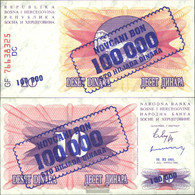 Bosnia-Herzegovina Pick-number: 34b Uncirculated 1993 100.000 Dinara - Bosnia And Herzegovina