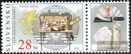 Slovakia 571Zf With Zierfeld (complete Issue) Unmounted Mint / Never Hinged 2007 Philately - Slovakia