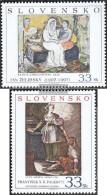 Slovakia 568-569 (complete Issue) Unmounted Mint / Never Hinged 2007 Paintings - Slovakia