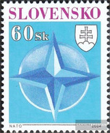 Slovakia 485 (complete Issue) Unmounted Mint / Never Hinged 2004 Accession To NATO - Slovakia