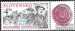 Slovakia 313Zf With Zierfeld (complete Issue) Unmounted Mint / Never Hinged 1998 Revolution - Slovakia