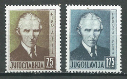 Yougoslavie YT N°301/302 Nikola Tesla Neuf/charnière * - 1931-1941 Reino De Yugoslavia