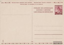 Bohemia And Moravia P13 Official Postcard Unused 1941 Linden Branch - Bohemia & Moravia