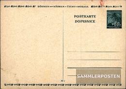 Bohemia And Moravia P2 Official Postcard Unused 1939 Linden Branch - Bohemia & Moravia