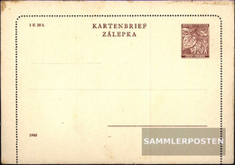 Bohemia And Moravia K2 Official Letter Card Unused 1940 Letter Card - Bohemia & Moravia