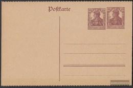 Deutsches Reich PZP22II Ufficiali Postcard Con Germania-Zudruck Non Usato 1920 Germania - Enteros Postales