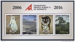 MONACO 2016 BLOC N° 3047 A 3050 / 10 ANS DE LA FONDATION PRINCE ALBERT II DE MONACO NEUF** - Bloques