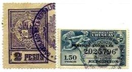URUGUAY, Consulars, Used, F/VF - Uruguay