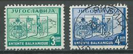 Yougoslavie YT N°312/313 Entente Balkanique Oblitéré ° - 1931-1941 Royaume De Yougoslavie
