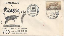SPAIN - 1974 - FDC - TRIBUTE TO PICASSO ......... WNV - Picasso