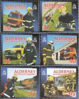 United Kingdom - Alderney 242-247 (complete.issue.) Unmounted Mint / Never Hinged 2004 Fire - Alderney
