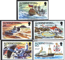 United Kingdom - Alderney 49-53 (complete.issue.) Unmounted Mint / Never Hinged 1991 Beacon - Alderney