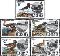 United Kingdom - Alderney 13-17 (complete.issue.) Volume 1984 Completeett Unmounted Mint / Never Hinged 1984 Seabirds - Alderney