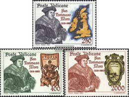 Vatikanstadt 870-872 (complete Issue) Unmounted Mint / Never Hinged 1985 Holy. Thomas More - Vatican