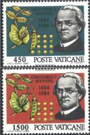Vatikanstadt 844-845 (complete Issue) Unmounted Mint / Never Hinged 1984 Gregor Mendel - Vatican