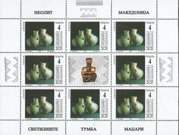 Makedonien 122-125 Sheetlet (complete Issue) Unmounted Mint / Never Hinged 1998 Archaeological Finds - Macedonia