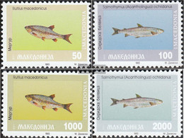 Makedonien 8-11 (complete.issue.) Unmounted Mint / Never Hinged 1993 Fish - Macedonia
