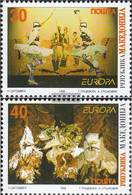 Makedonien 128-129 (complete.issue.) Unmounted Mint / Never Hinged 1998 Celebrations - Macedonia