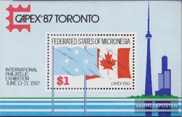 Mikronesien Block2 (complete Issue) Unmounted Mint / Never Hinged 1987 CAPEX'87 - Micronesia