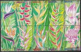 Malaysia 821A-830A Zehnerblock (completa.Problema.) MNH 1999 Piante - Malesia (1964-...)