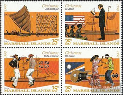 Marshall-Islands 325-328 Block Of Four (complete Issue) Unmounted Mint / Never Hinged 1990 Christmas - Marshall Islands