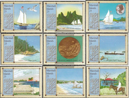 Marshall-Islands 176-184 (complete Issue) Unmounted Mint / Never Hinged 1988 Pacific-Travel - Marshall Islands