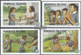 Marshall-Islands 101-104 (complete Issue) Unmounted Mint / Never Hinged 1986 Girl Scouts - Marshall Islands