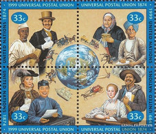 UN - New York 822-825 Block Of Four (complete Issue) Unmounted Mint / Never Hinged 1999 125 Years UPU - New York – UN Headquarters