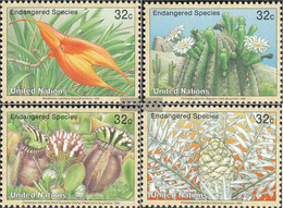 UN - New York 707-710 (complete Issue) Unmounted Mint / Never Hinged 1996 Affected Plants - New York – UN Headquarters