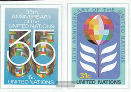 UN - New York 346B-347B (complete Issue) Unmounted Mint / Never Hinged 1980 35 Years UN - Unused Stamps