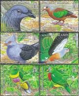 Salomoninseln 1258-1263 (complete.issue.) Unmounted Mint / Never Hinged 2005 Locals Birds - Solomon Islands (1978-...)
