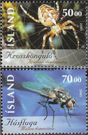 Iceland 1093-1094 (complete Issue) Unmounted Mint / Never Hinged 2005 Insects - Ungebraucht