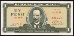 Caribe  / 1 PESO 1988 REPLACEMENT Serie XBA-01 121395 UNC - Cuba