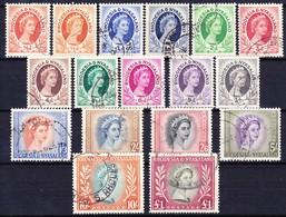 RHODESIE NYASSALAND 1954 YT N° 1 à 15 Obl. (1a Et 2a Inclus) - Rhodesia & Nyasaland (1954-1963)