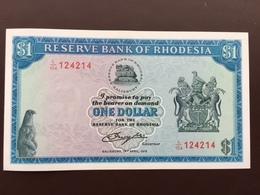 RHODESIA P30B 1 DOLLAR 18.04.1978 UNC - Rhodésie
