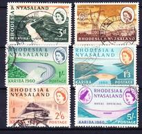 RHODESIE NYASSALAND 1960 YT N° 33 à 38 Obl. - Rhodesia & Nyasaland (1954-1963)