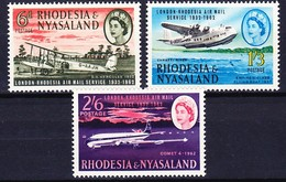 RHODESIE NYASSALAND 1962 YT N° 41 à 43 ** - Rhodesia & Nyasaland (1954-1963)
