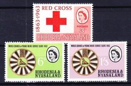 RHODESIE NYASSALAND 1963 YT N° 48 à 50 ** - Rhodésie & Nyasaland (1954-1963)