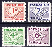 RHODESIE NYASSALAND TAXE 1961 YT N° 1 à 4 ** - Rhodésie & Nyasaland (1954-1963)
