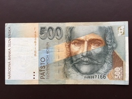 SLOVAQUIA P23 500 KORUM 1.9.1993 AUNC - Slowakei