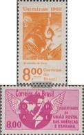 Brazil 1023,1024 (complete Issue) Unmounted Mint / Never Hinged 1962 Completion Stahlwerk, UPAE - Brasilien